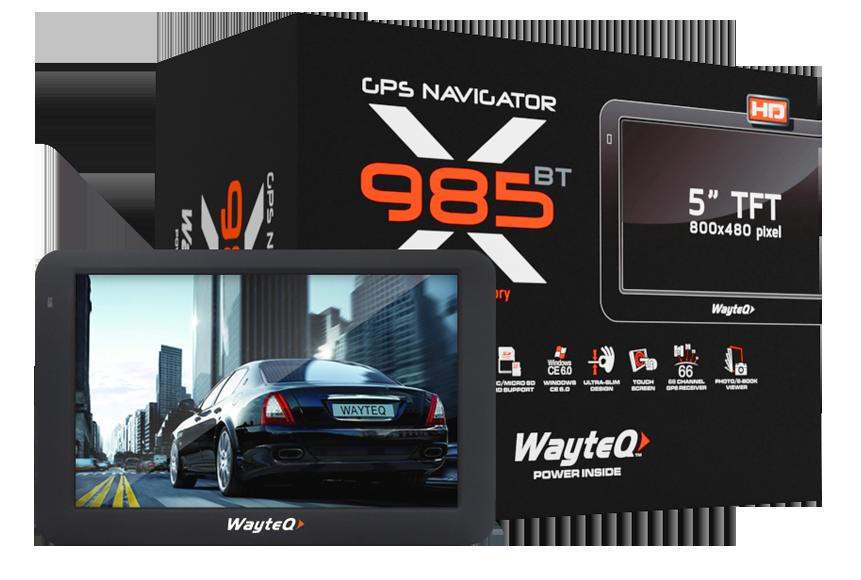 WayteQ x985BT GPS navigáció