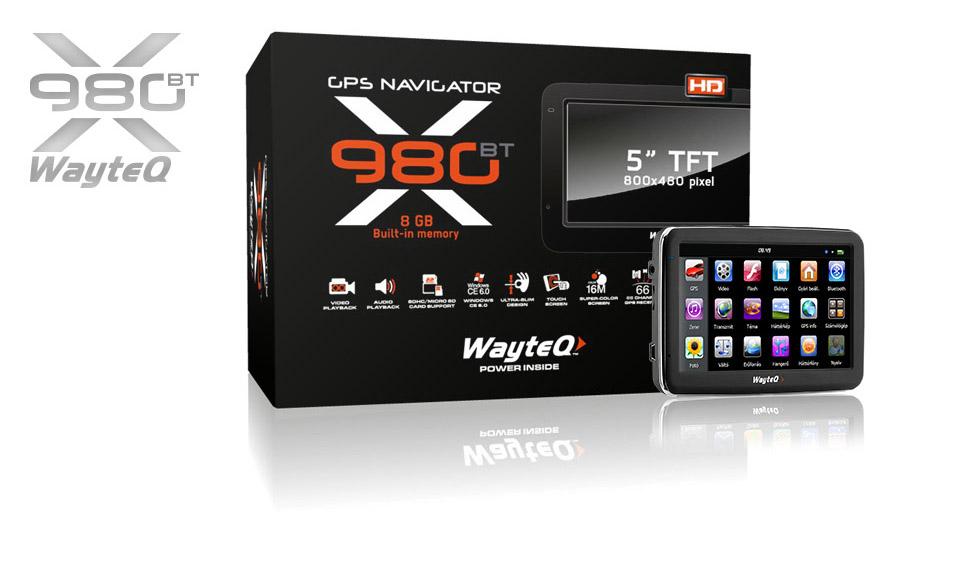 x980bt gps navigáció